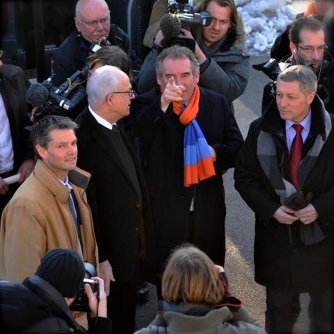 François Bayrou et Rodolphe Thomas dans l'Orne