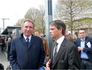 Transport à Caen Tramway (François Bayrou et Rodolphe Thomas)