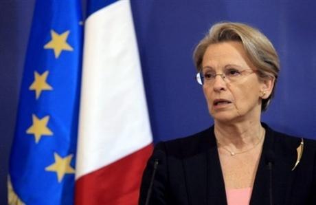 Michèle  ALLIOT-MARIE sur la prison de Caen
