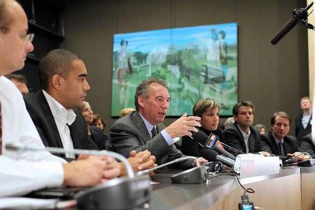 François Bayrou et Rodolphe Thomas