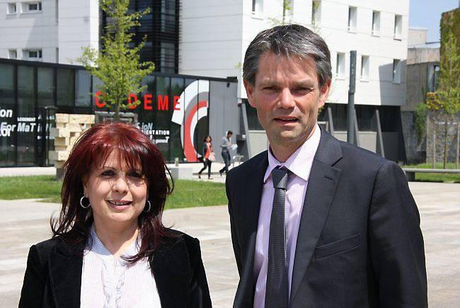 Baya Mokhtari et Rodolphe Thomas.